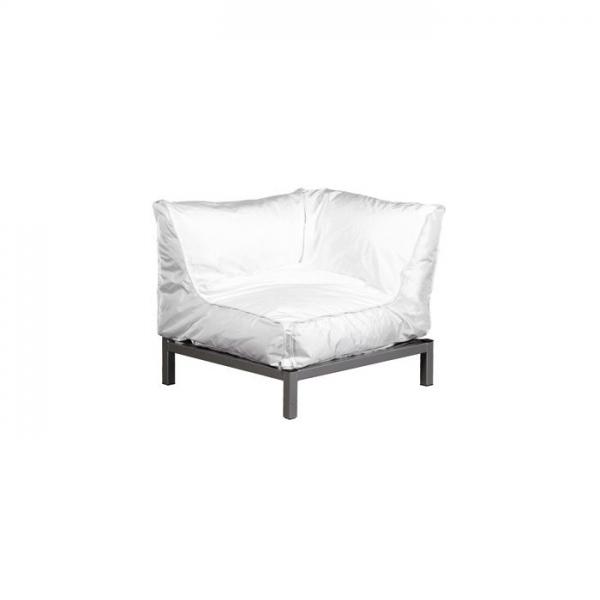 Sessel VIVA Eckelement weiß | Möbel | Loungemöbel | Classic white Lounge