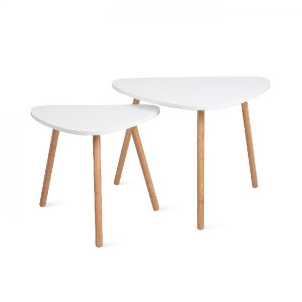 Beistelltisch 2er Set weiß nierenform | Möbel | Loungemöbel ...
